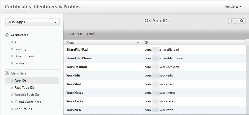 iOS Unique App IDs