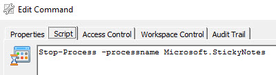 Edit Command - Ivanti Workspace Control